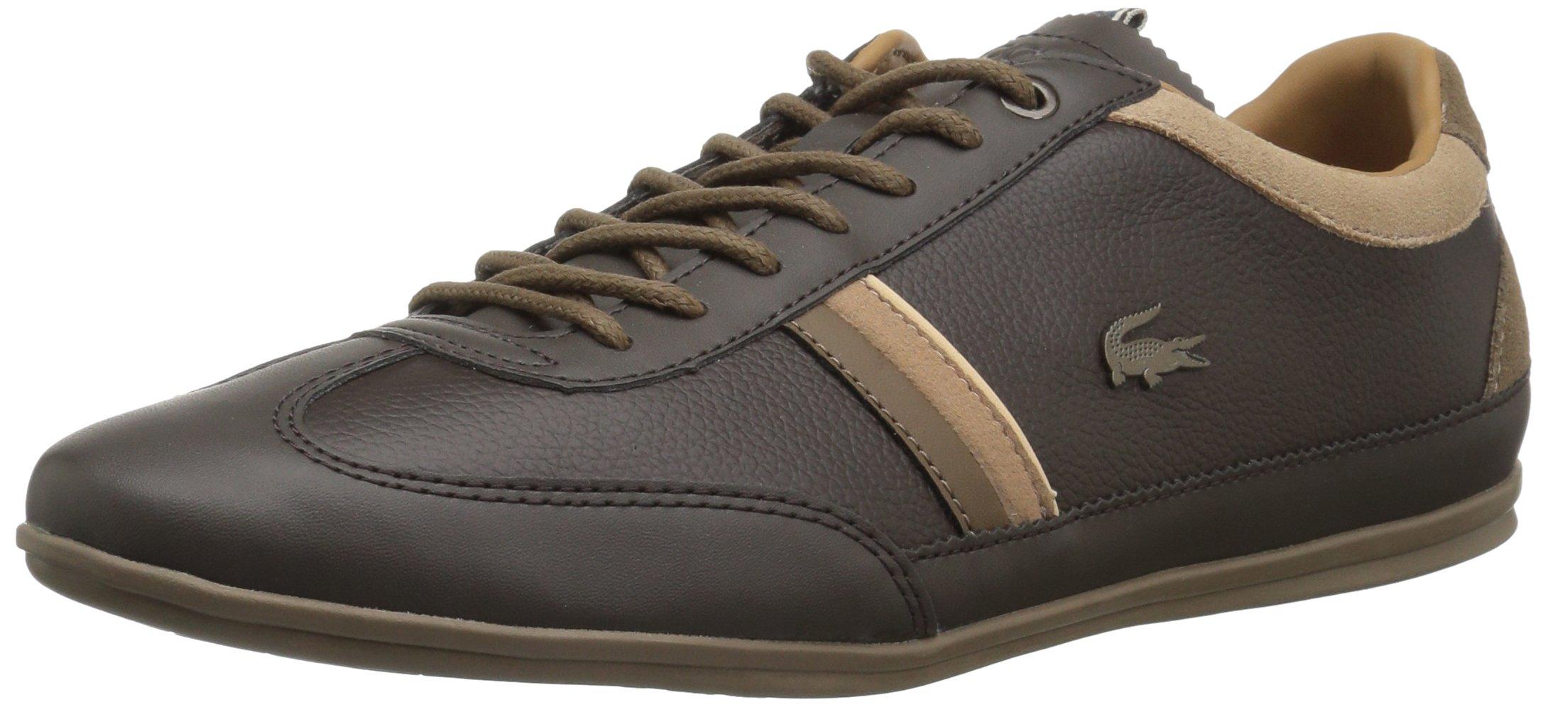 Lacoste Men's Misano 118 1 Sneaker, BRW/Ltbrw, 11 M US