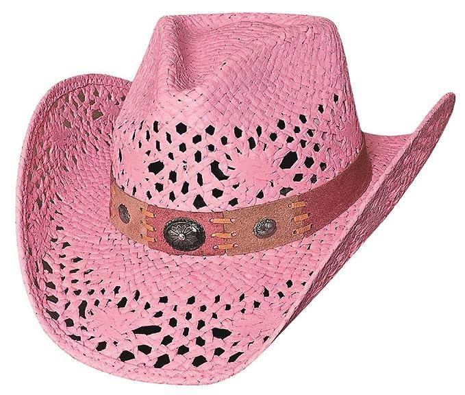 Bullhide Montecarlo Pure Country Toyo Straw Western Hat Pink Medium ... 03017b941b9