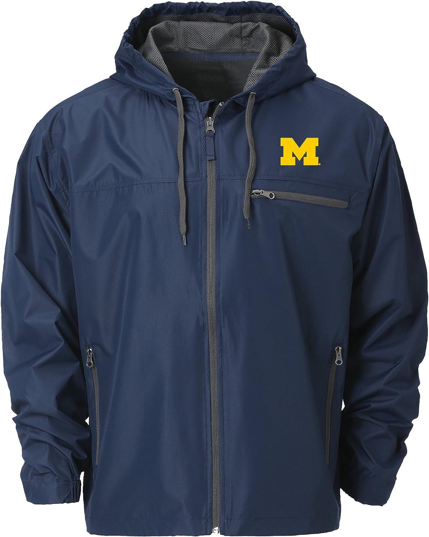 Ouray Sportswear NCAA Michigan Wolverines Mens Venture Windbreaker Jacket