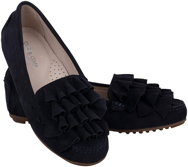 Shirin Sehan Mocasines para Mujer Azul Azul Marino: Amazon.es: Zapatos y complementos