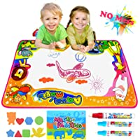 """Semaco Water Drawing Mat, Drawing Painting Doodle Mat Aqua Magic Mat, Ideal Kids Toys Toddlers Painting Board Writing Mats with 3 Magic Pens and Drawing Booklet for Boys Girls Gift Size 34.5"""" X 22.5"""""""