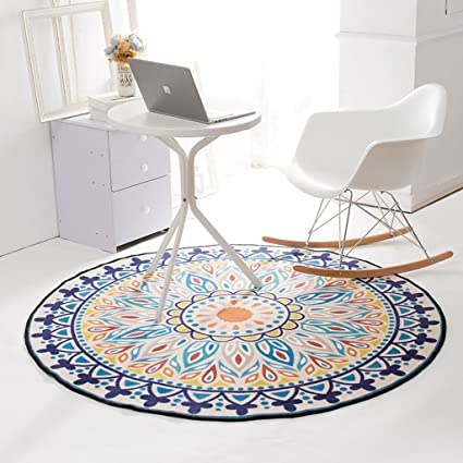 Super Amazon Com Dyw Rugs Nordic Retro Style Round Rug Living Creativecarmelina Interior Chair Design Creativecarmelinacom