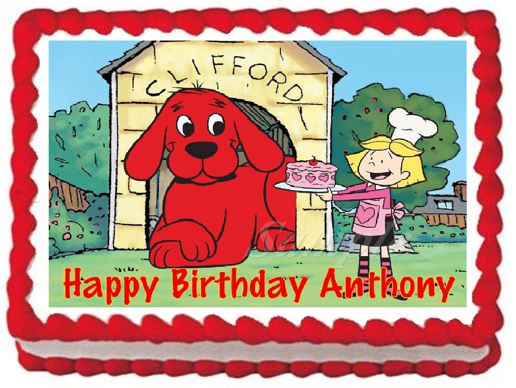 Amazon Clifford The Big Red Dog Edible Frosting Sheet Cake