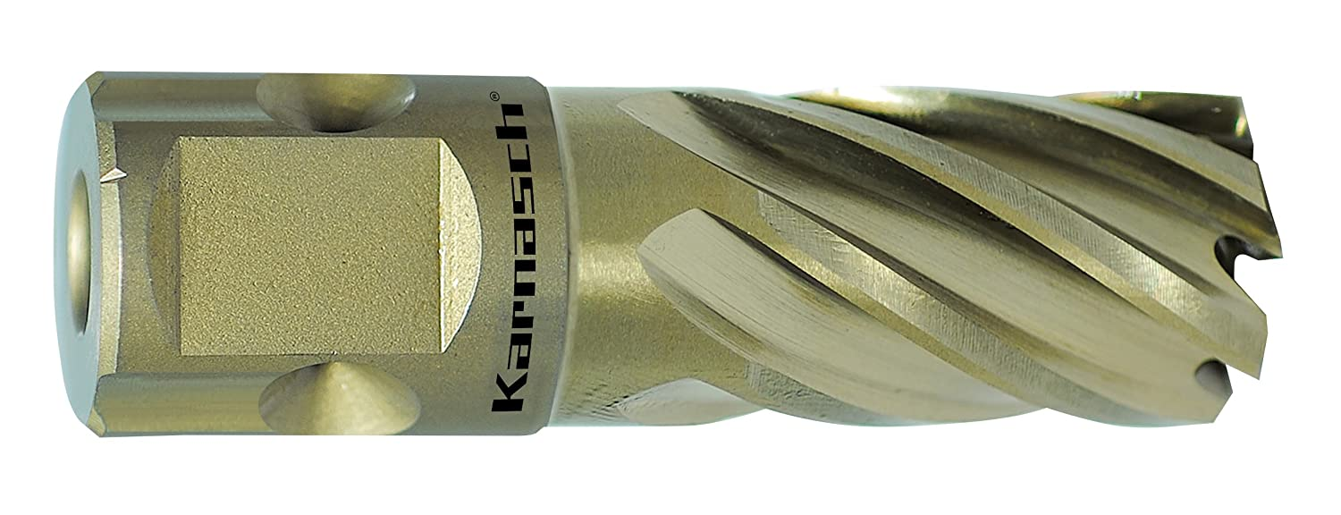 Karnasch 201260N012 12mm Gold-Line 25mm long Annular Cutter/Core Drill (Universal Shank)
