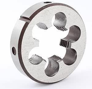 Aexit Steel 64mm Dies Outside Diameter Metric M30 x 2 Screw Thread Round Round Threading Dies Die Tool