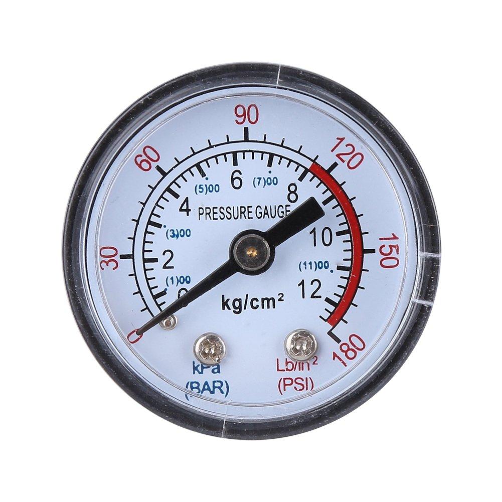 Interruptor de Presión de Compresor de Aire Válvula de Seguridad de Doble Calibre Control de Presión con Regulador de Presión 120 PSI Socialme-eu: ...