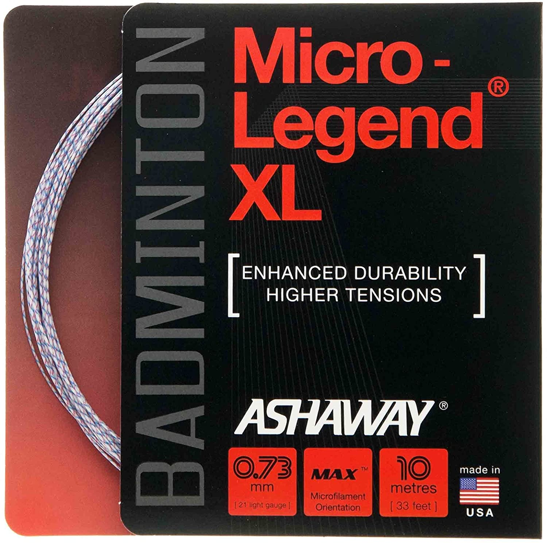 ASHAWAY Saiten Micro Legend XL Set 10 m wei/ß//rot//blau