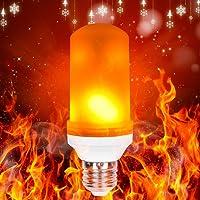 【Nouvelle Version】LED Lampe Flamme, Towinle Flammes Lumière Ampoule E27 Lumière Ampoule 2300K Feu Lumière Décorative pour Noël Maison Jardin Bar Fête Mariage [Classe Économie d'Energie A++]