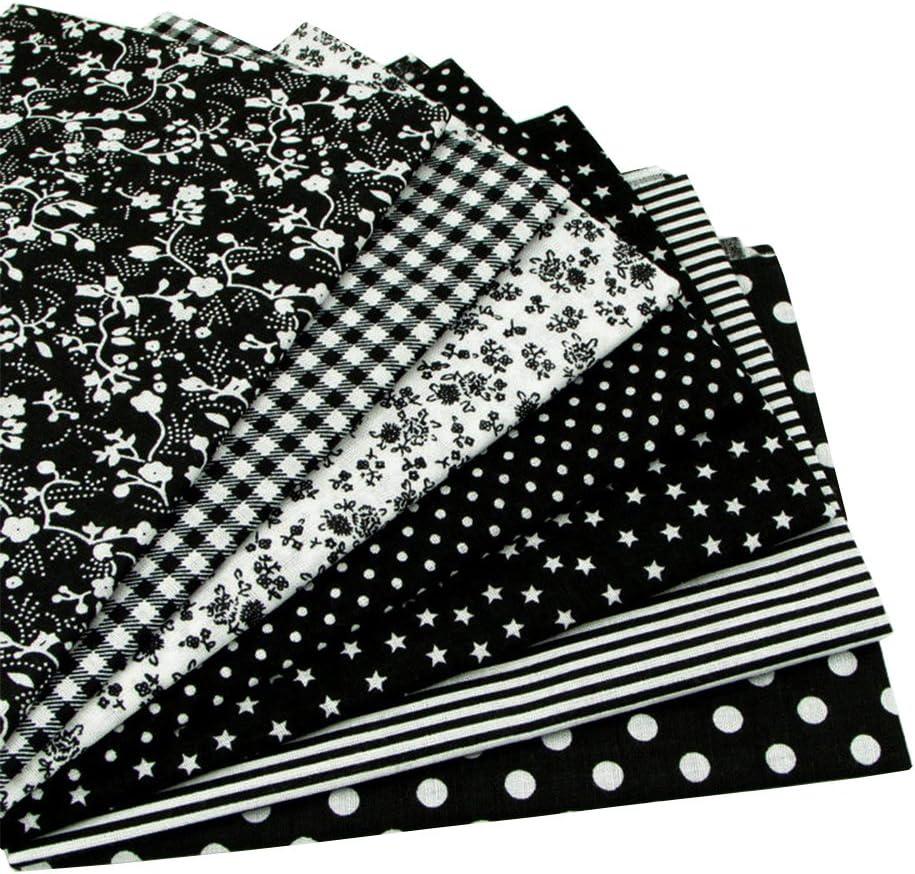 "B01DPNK2WE 7pcs Black 19.7""x19.7"" 100% Cotton Quilting Fabric for DIY Sewing Patchwork 71I2UQ4hvtL"