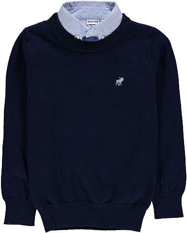 Crafted Niños Camisa Jersey Suéter Azul Marino 9-10 años: Amazon.es: Ropa y accesorios