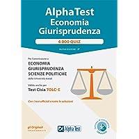 Alpha test economia e giurisprudenza. 4.000 quiz. Con Contenuto digitale per download