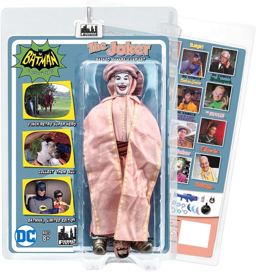 Batman Classic TV Series Boxed 8 Inch Action Figures Masked Maharaja Joker
