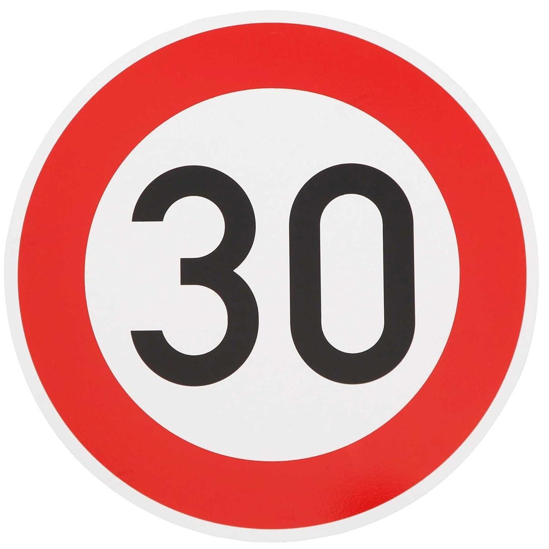 1 Schild 100 km//h Geschwindigkeit 20 cm Aluminium-Verbundplatte  2mm