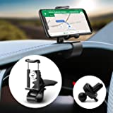 Cutier Car Dashboard Phone Holder Air Vent Mount 360 Degree Rotation Adjustable Mobile Clip Stand Suitable for 4-7…