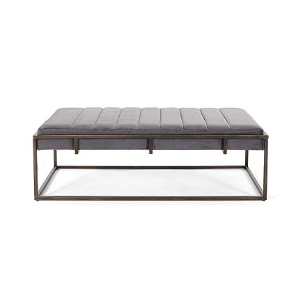 Superb Great Deal Furniture Vassy Glam Velvet Ottoman Bench Gray Dailytribune Chair Design For Home Dailytribuneorg