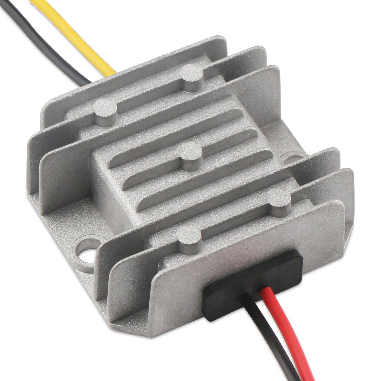 5v 12v to 24v Step Up Converter, DROK DC-DC Waterproof Boost Converter 5V-22V 12 v to 6V-24V 24 v Step Up Voltage Regulator Module 3A 72W Power Supply Transformer for Car Audio Electric Fan