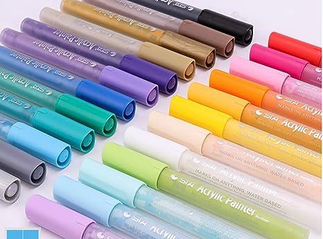 Amazon.com: Rotulador permanente de 24 colores para niños ...