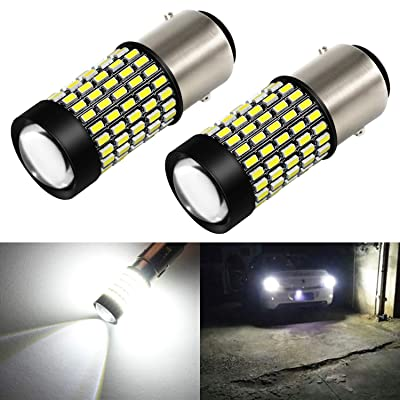 Phinlion 1157 LED White Bulb 2800 Lumens Super Bright 3014 103SMD BAY15D 2057 7528 1157 LED Bulbs with Projector for Back Up Reverse DRL Brake Stop Tail Lights, 6000K Xenon White: Automotive