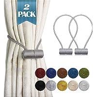SmallDot Magnetic Curtain Tiebacks, 16 Inch Window Holdbacks Drapes Holders Hooks, Decorative Weave Rope Clips with…