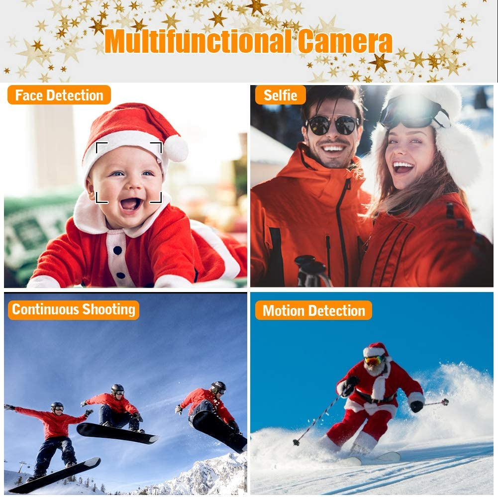 Digital Camera Vlogging Camera,24MP Full HD 2.7K 25FPS YouTube Camera with Retractable Flashlight and 3.0 Inch Flip Screen