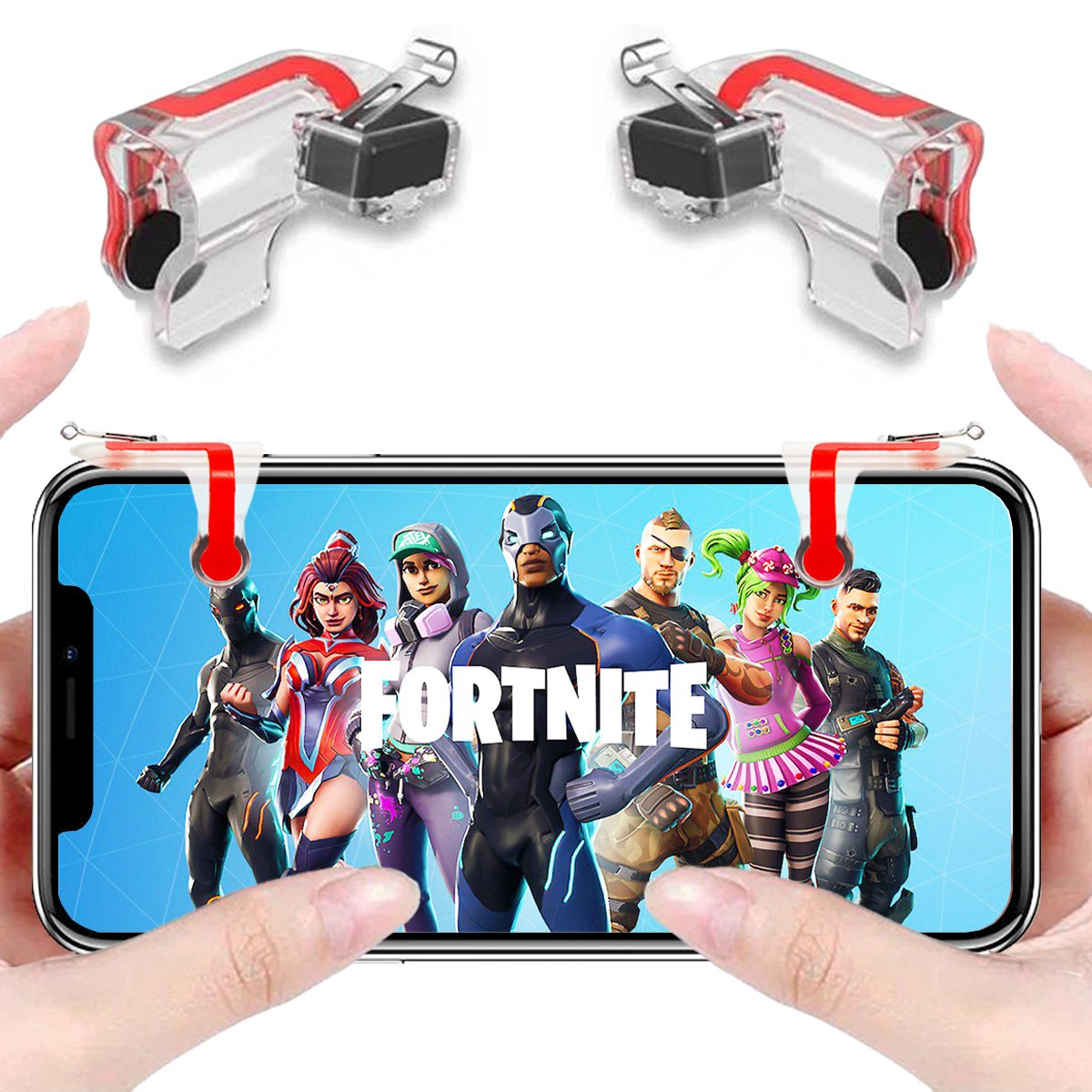 anfiner mobile controller gaming triggers phone buttons compatible with fortnite pubg battle royale knives out free fire fps mobile games with sharpshooter - compatible fortnite mobile