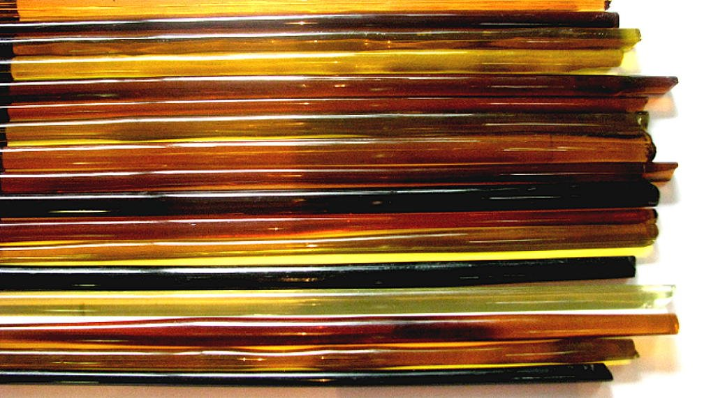1lb Devardi Glass Rods Lampworking COE 104~  Coppery Black