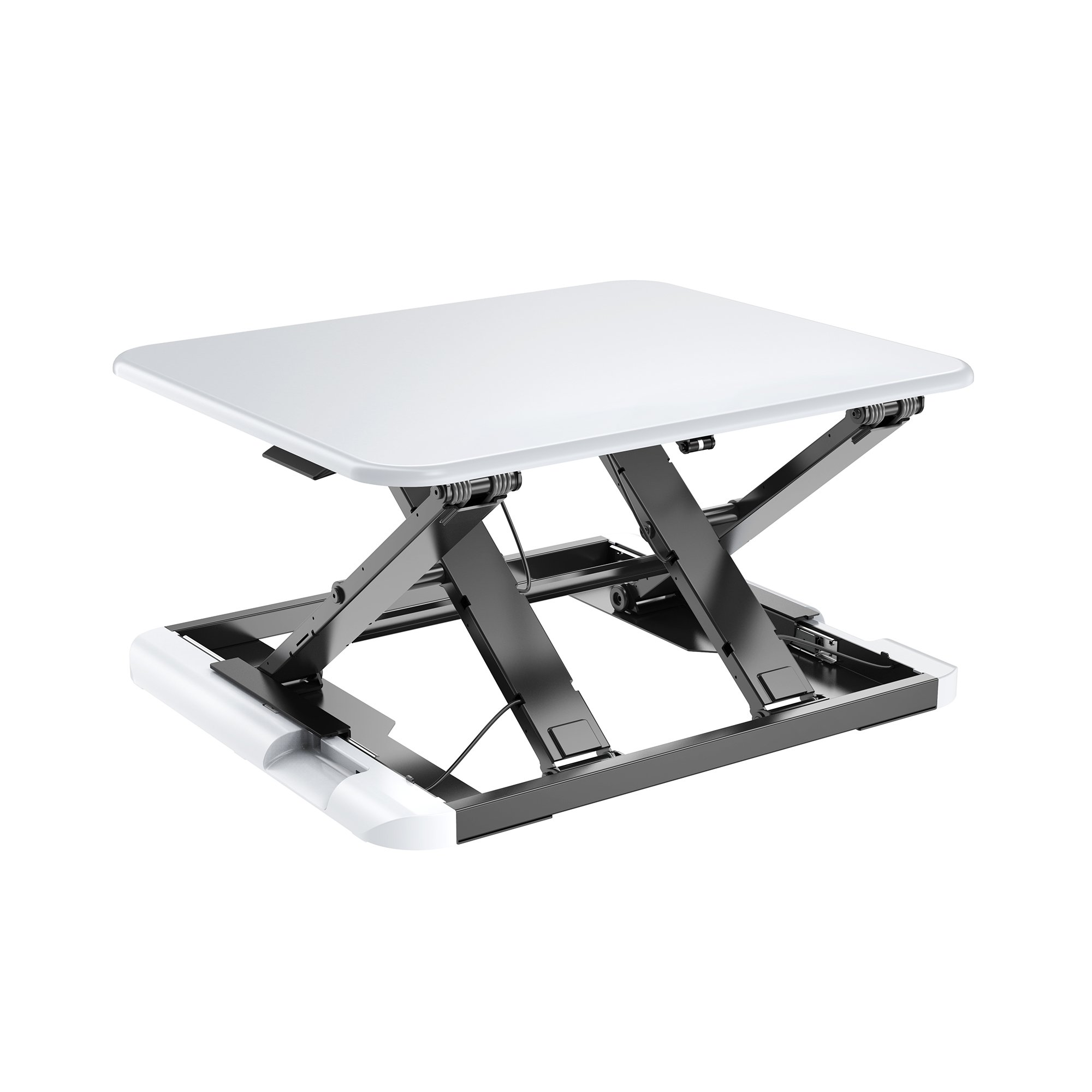 TOTALPACK Standing Desk -X-Elite PRO Sit Stand Desk Converter - Anti Fatigue Height Adjustable Workstation, Extra Large 26.5'' x 22.2'' Desktop Surface, Easy To Raise & Lower - Pre-Assembled, White