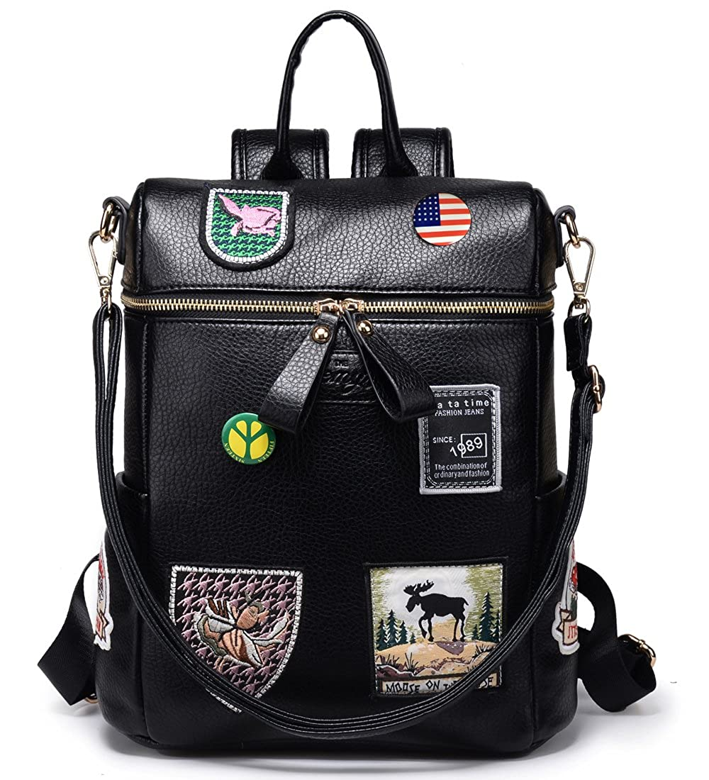 Amazon.com: Kemy suave del Convertible mochila bolso de piel ...
