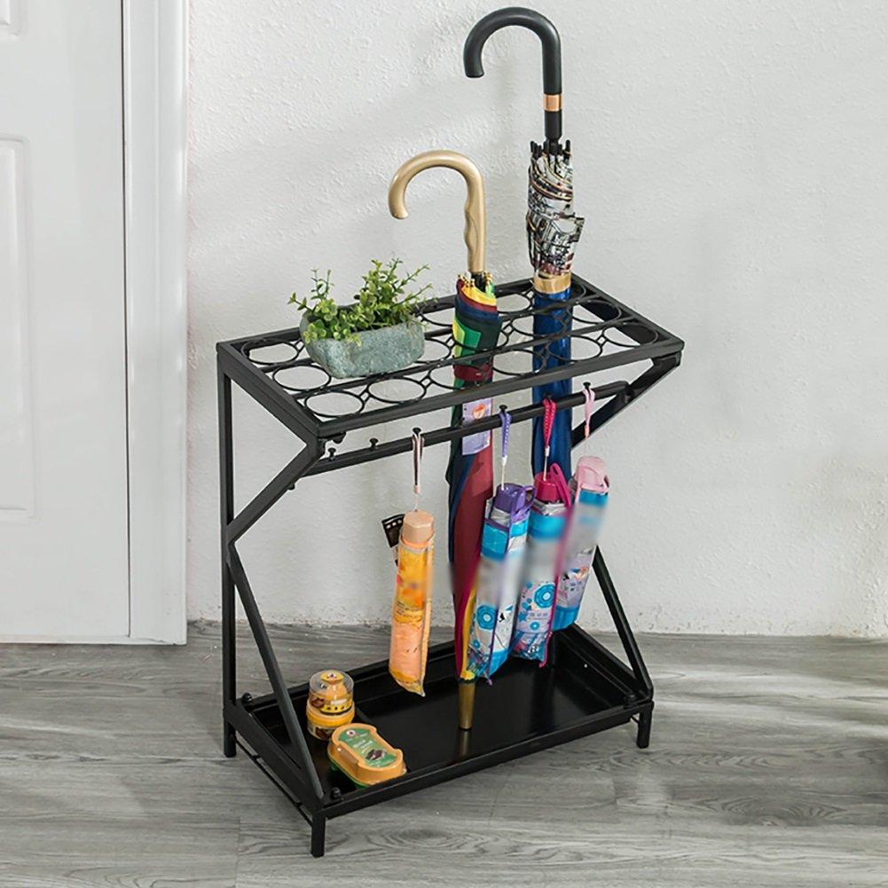 Umbrella Stands WSSF- Iron Art Hotel Lobby Umbrella Shelf Household Creative Floor-standing Rain Gear Canes/Walking Sticks Stand Storage Holder Umbrella Drain Rack,522560cm (Color : Black)