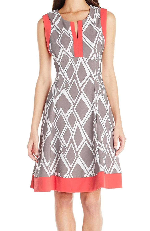 ROBBIE BEE Womens Petite 1 Pc Geo Print Dress