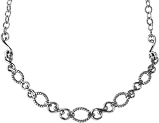 product image for Carolyn Pollack Sterling Silver Filigree Loop Necklace 17 to 20 inch