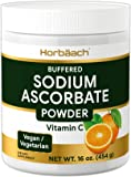 Sodium Ascorbate Vitamin C Powder | 16 oz | Buffered | Vegetarian, Non-GMO, Gluten Free | by Horbaach