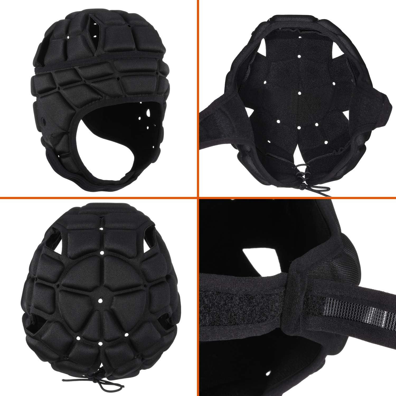 surlim Soft Helmet for Flag Football Soccer Goalie Wrestling Headgear Rugby Headguard Scrum Cap Soft Shell Helmet Head Protection