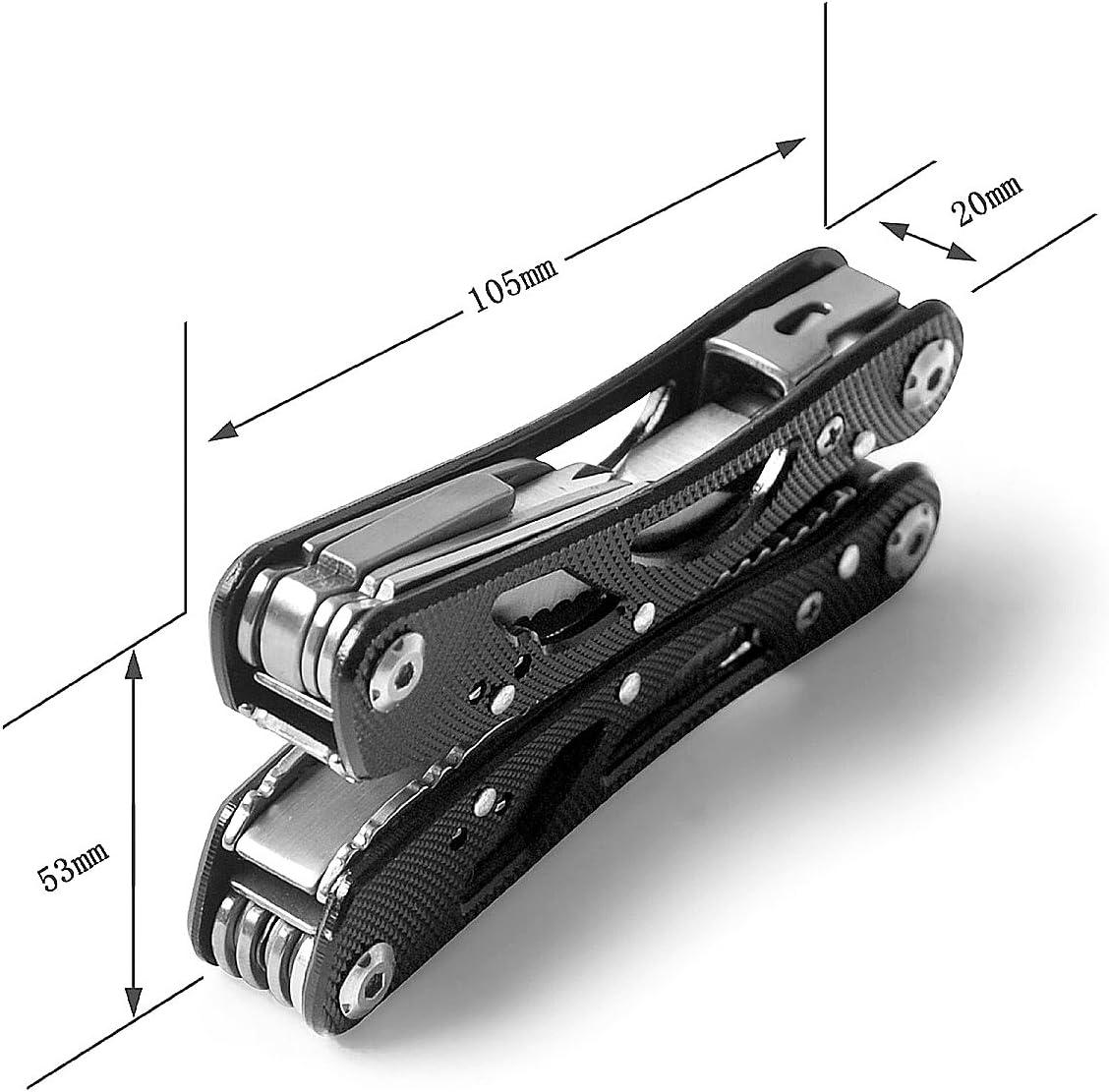 Andux Pince Multifonction Pince /à d/énuder de pr/écision D/énudage de c/âbles /à fibres optiques Outil /à main DXBPQ-01