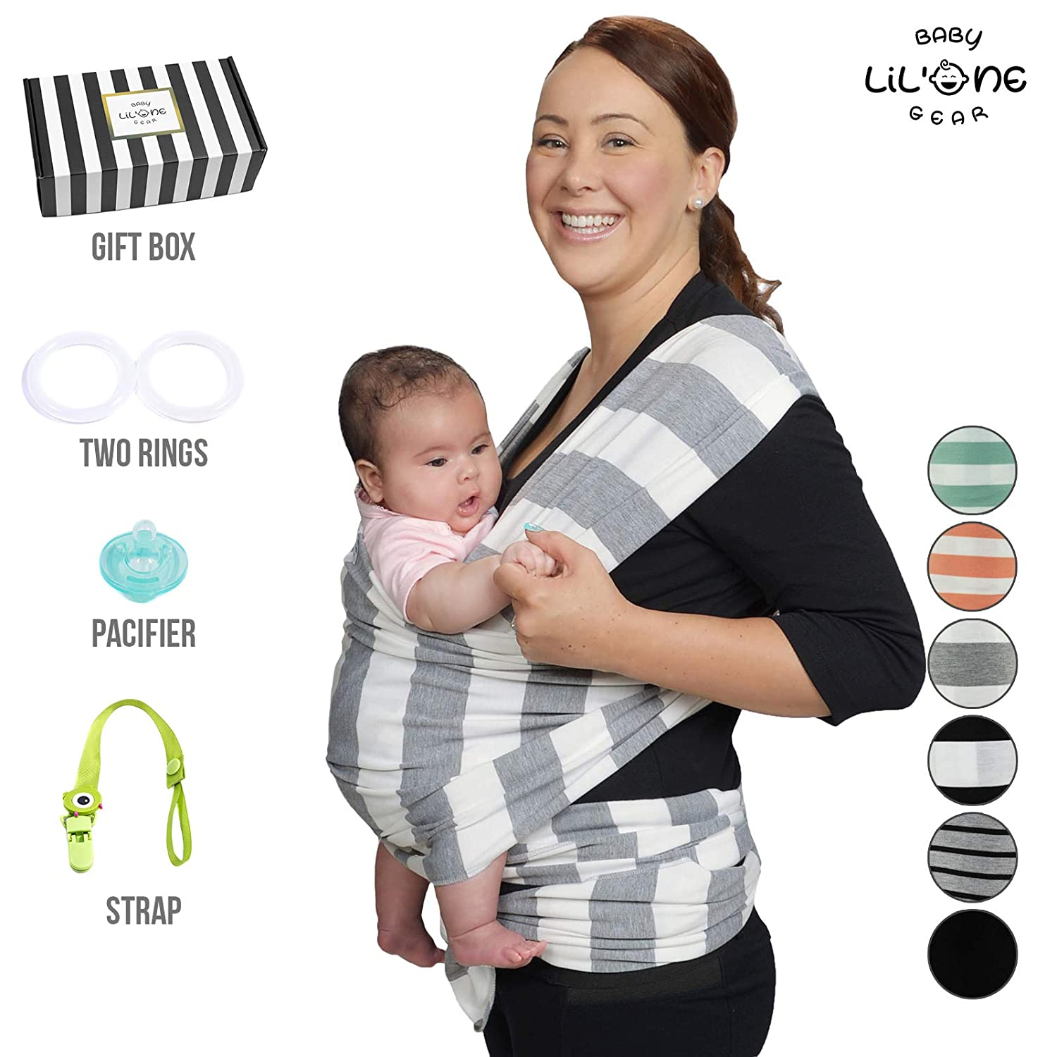 Baby Wrap Carrier Ring Sling Infant Newborn Soft Breathable