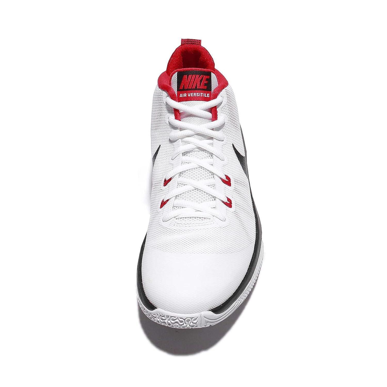 premium selection d4f15 64b6b Nike Air Versitile - Scarpe Sportive, Uomo, Uomo, Air Versitile, Bianco Nero  Rosso (White Black-University Red), 46  Amazon.it  Sport e tempo libero