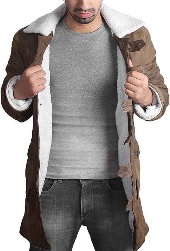 Bane Cappotto 'Tom Hardy Knight Rises Scure' Choco Giacca di Pelle Marrone
