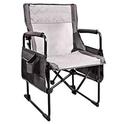 REDCAMP Heavy Duty Camping Chairs for Adults 330lbs, Compact Portable Folding Camp Chair with Cup Holder for Beach Picnic Fishing, Gray: Kitchen & Dining