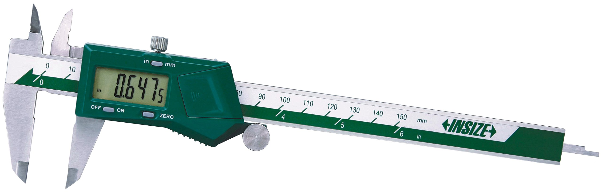 INSIZE 1108-150CAL Electronic Caliper with ISO17025 Calibration Certificate, 0-6''