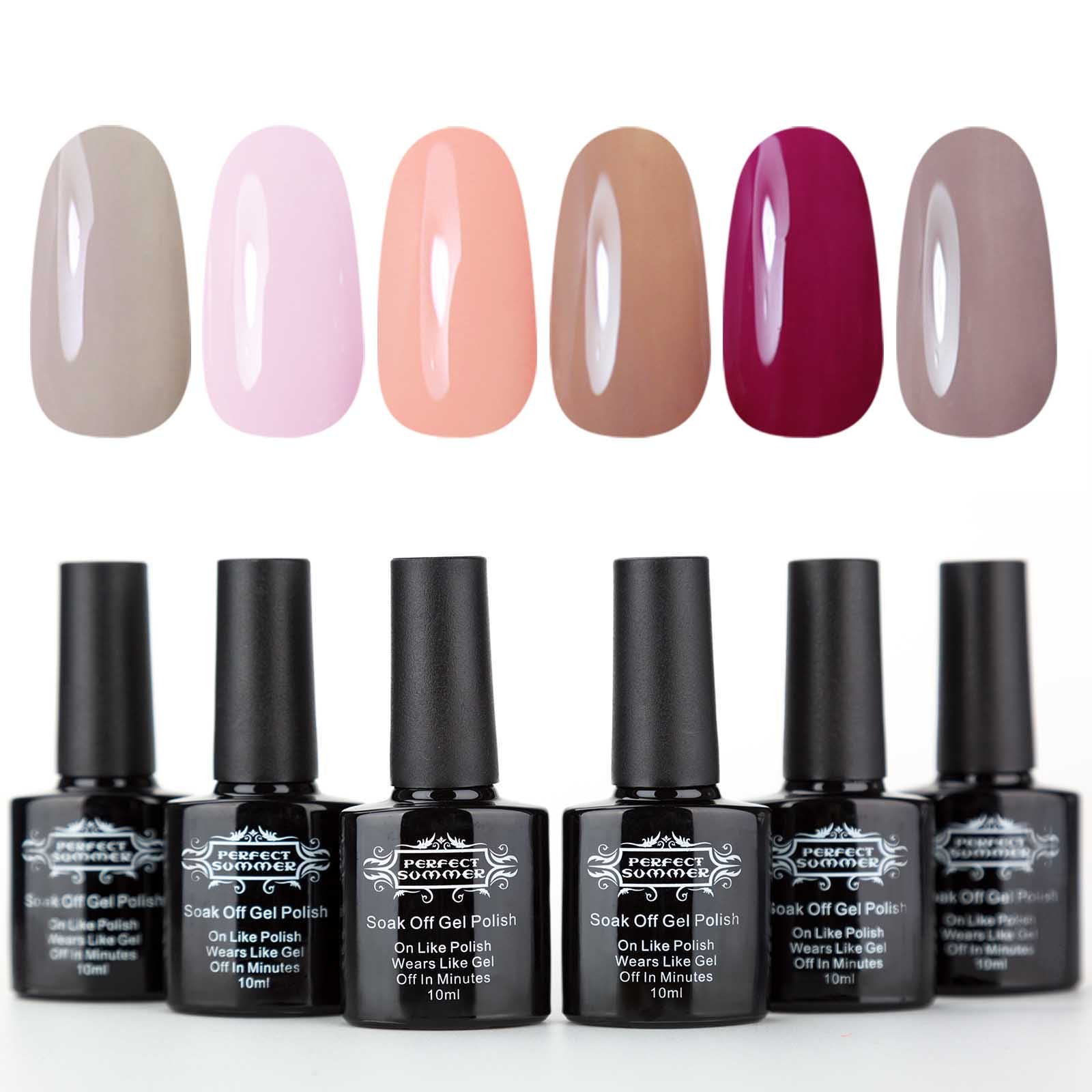 Amazon.com : Perfect Summer UV/LED Gel Nail Polish Kit - Manicure ...