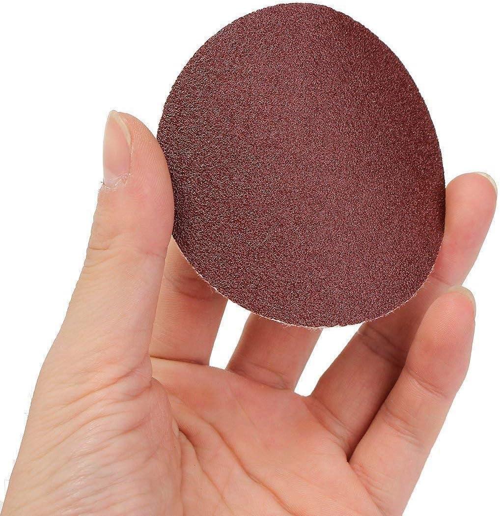 papier de verre pon/çage polissage abrasif disque propre et parfaitement poli Lot de 100 disques abrasifs de 50//75mm grain abrasif 80-3000 50mm