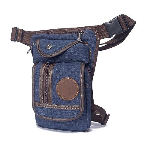 Outreo Bolsa de Pierna Bolso de Cintura Hombre Riñonera Pequeñas Bolsas de Viaje Bolsos de Tela Carteras Outdoor Sport Bag Movil Gimnasio Deporte