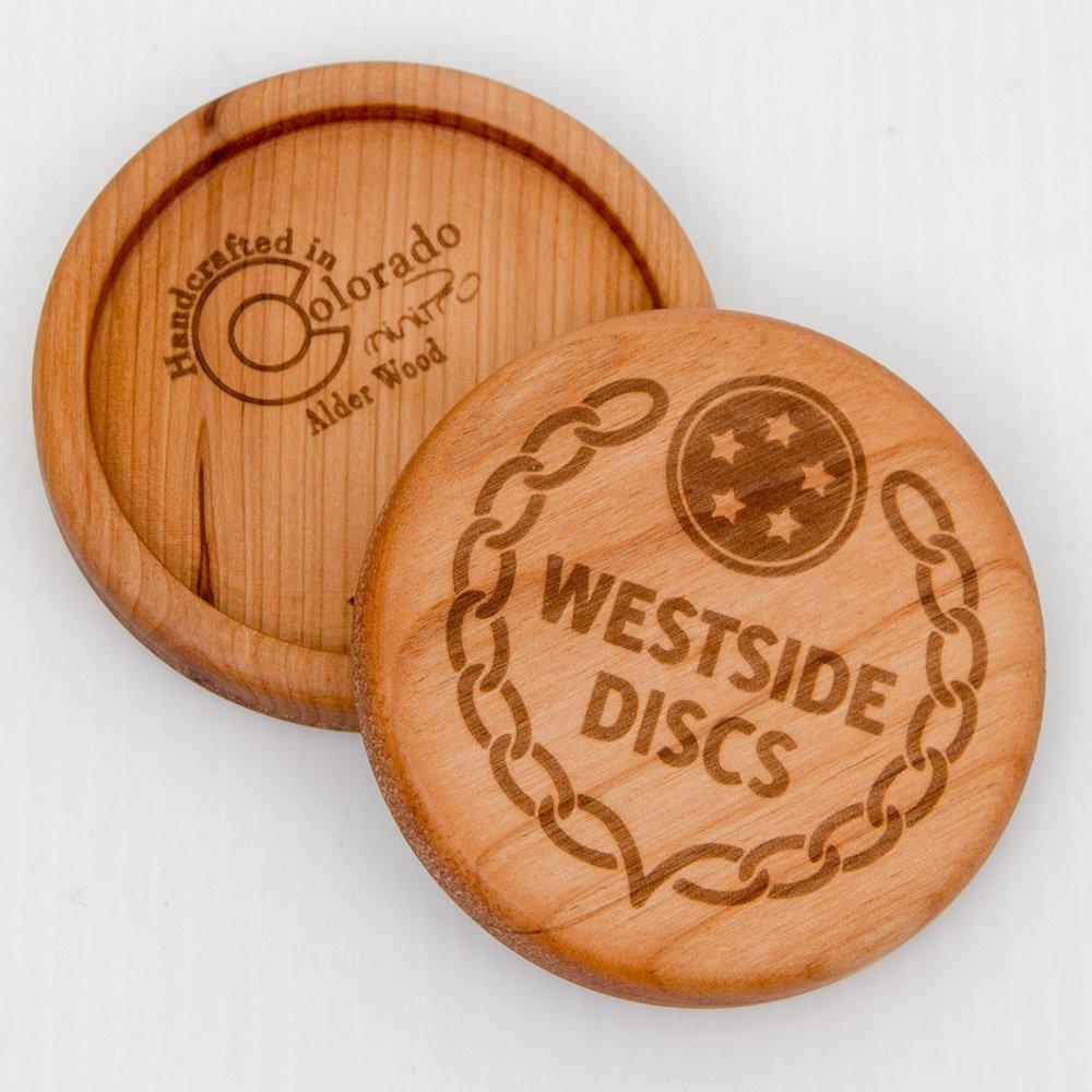 Westside DiscsロゴAlder木製ディスクミニゴルフマーカーDisc   B076ZWT9TL