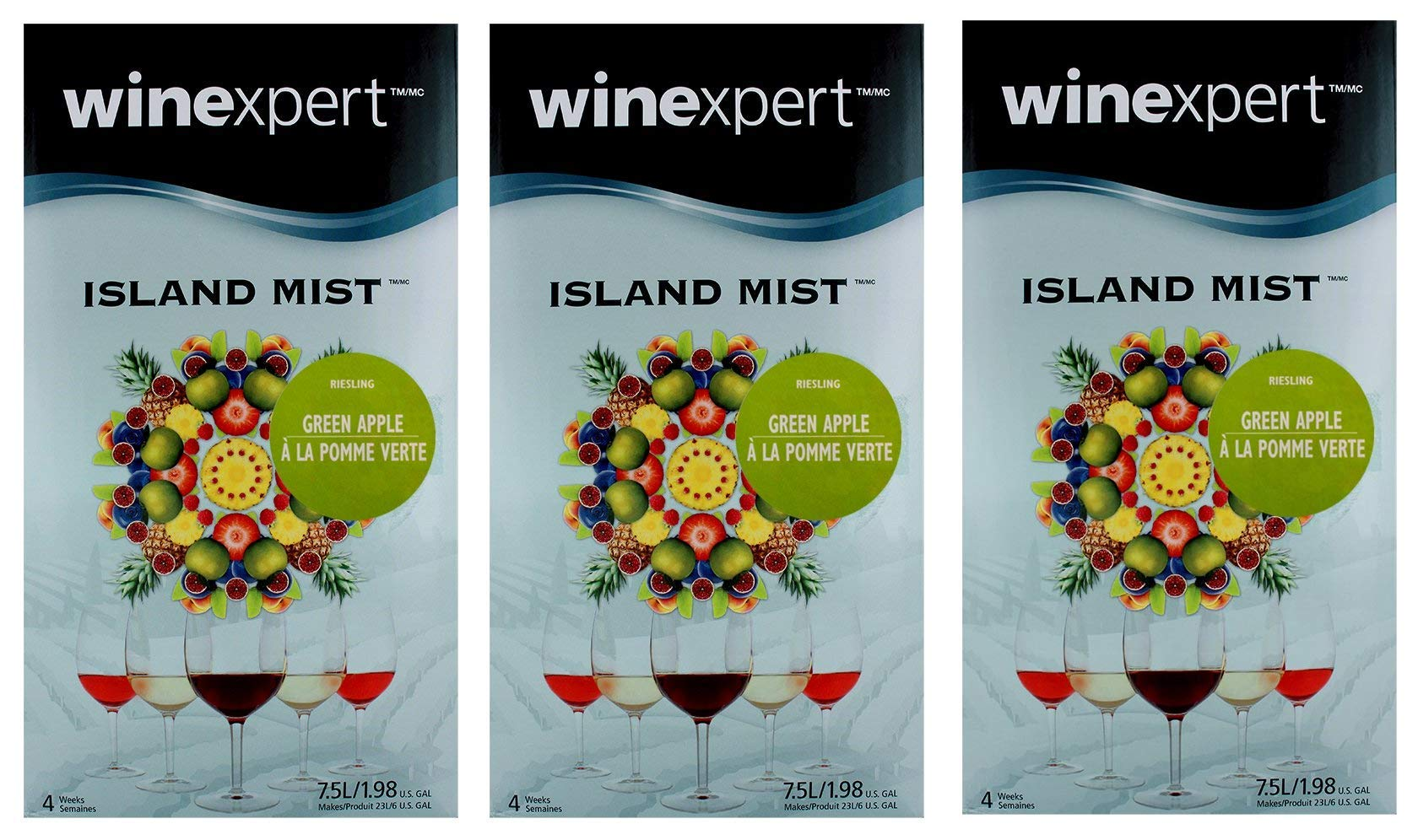 Green Apple Riesling (Island Mist) (3-Pack)