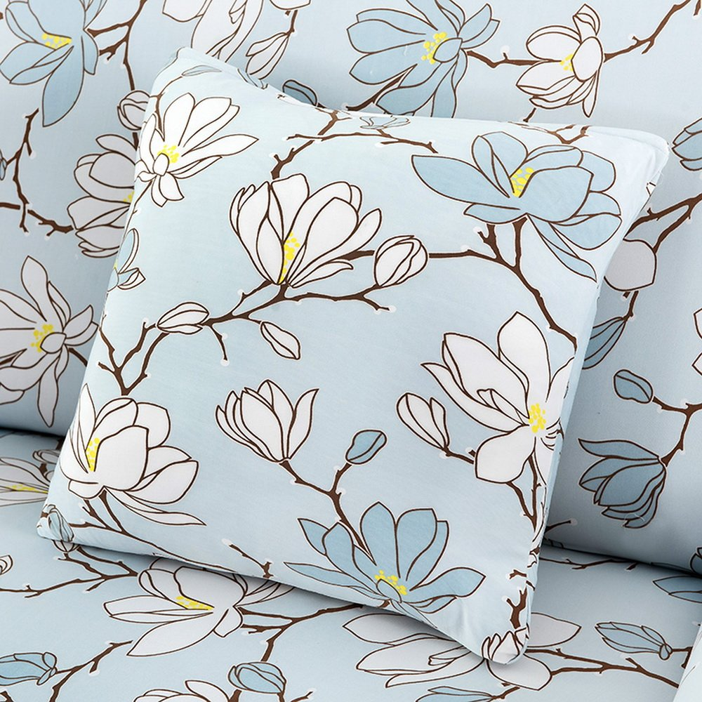 Souarts Flowers Chair Back Cushion Polyester Throw Square Pillowcase Decorative Pillowcase 4545cm by Souarts (Image #1)