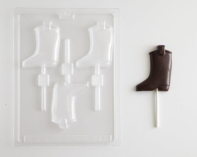 Western vaquero Chocolate moldes (1) Mini Cowboy Sombrero Candy Mold (1) Cowboy Boot Sucker Candy Mold (1) insignia del Sheriff Sucker Candy Mold: ...
