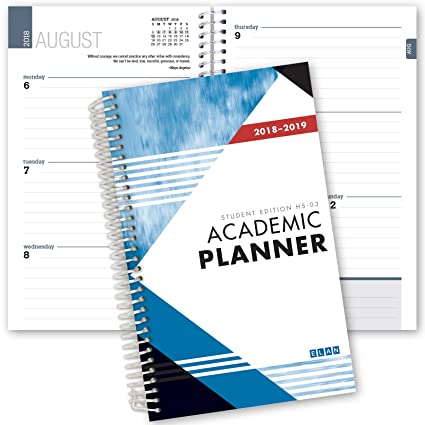 Dated Student Planner For High School Of College Dated
