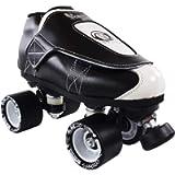 VNLA Junior Tuxedo Jam Skates - Indoor Unisex Roller Skates for Tricks and Rhythm Skating - Black/White (Men 7 / Women 8…