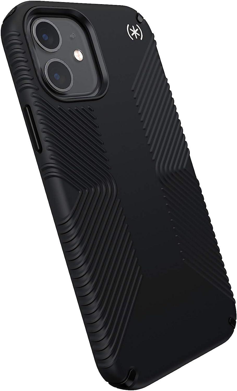Speck Products Presidio2 Grip iPhone 12, iPhone 12 Pro Case, Black/Black/White