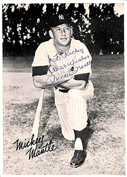 """b2277489b Yankees Mickey Mantle""""Best Wishes"""" Signed 5x7 Photo Slabbed - PSA/ DNA Certified"""